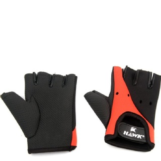 Hawk Comfort Gloves,  Red & Black  Small