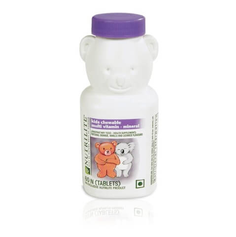 Amway Nutrilite Kids Chewable Multivitamin,  Unflavoured  60 tablet(s)