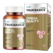 TrueBasics Omega Beauty for Hair Skin & Nails,  30 capsules  Unflavoured